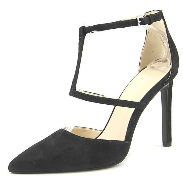 a7ee555916e Shop Nine West Tornaydo Women Open Toe Suede Black Platform Heel ...