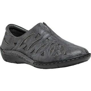 Propet Women's Cameo Slip On Shoe Grey/Pewter Full Grain Sheep Leather