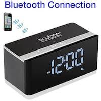 4.1 Portable Alarm Clock Radio Bluetooth Wireless Speaker,