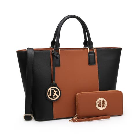 Dasein Women's Handbags Purses Large Tote Shoulder Bag Top Handle Satchel