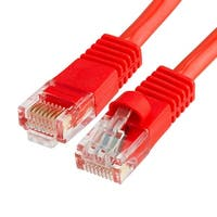 Cat5e Ethernet Network Patch Cable 350 MHz RJ45 - 1.5 Feet Red