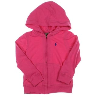 Polo Ralph Lauren Hoodie Ribbed Trim French Terry - 4/4t
