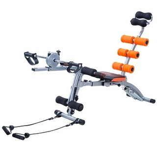 Costway Multi-functional Twister AB Rocket Abdominal Trainer Core Trainer Bench Stepper Orange