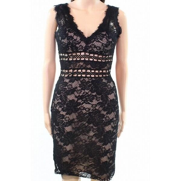 2c60a79ccbb Shop Xscape Nude Womens Lace Overlay V-Neck Sheath Dress - Free ...