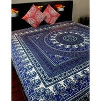 Cotton Paisley Mandala Floral Tapestry Wall Hanging Tablecloth Rectangle Bedspread Beach Sheet