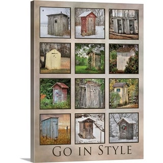 """Go in Style"" Canvas Wall Art"