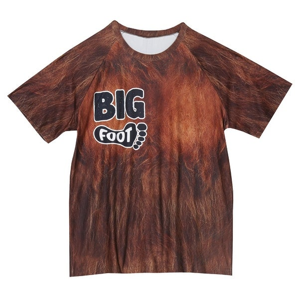 Shop American Mills Men s Bigfoot Sleep Shirt - Brown Short Sleeve Pajama  Top - On Sale - Free Shipping On Orders Over  45 - Overstock - 24302790 8be7fe63f