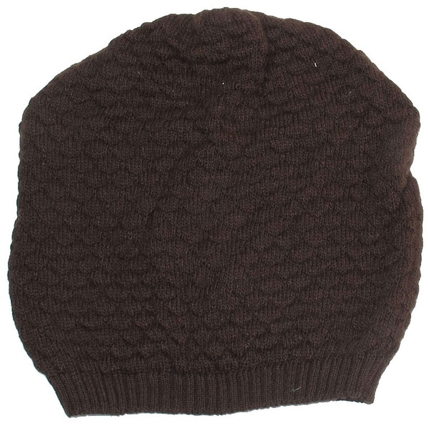 Unique Bargains Winter Head Ear Warmer Kniting Brown Soft Caps for Ladies
