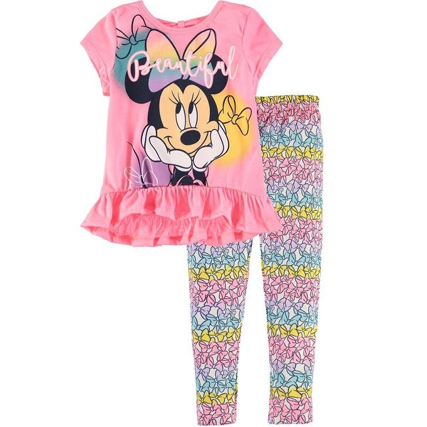 3102ad3e275 Shop Disney Girls 2T-4T Minnie Mouse Leg Set - Pink - Free Shipping On Orders  Over  45 - Overstock - 20487420