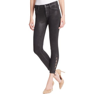 Hudson Womens Nix Colored Skinny Jeans Lace Up Lyocell