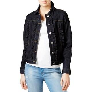 Tommy Hilfiger Womens Jean Jacket Denim Ruffled - xL
