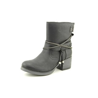 Madden Girl Gypsiee Women Round Toe Synthetic Black Ankle Boot