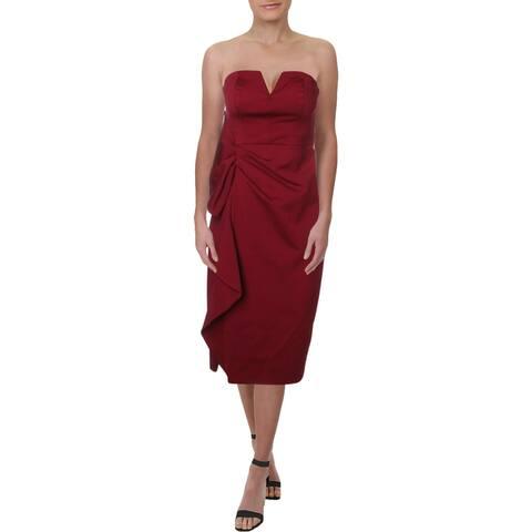 Aidan Mattox Women's Ruffled Strapless Cocktail Dress