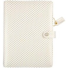 """Gold Polka Dots - Color Crush A5 Faux Leather Planner Kit 7.5""""X10"""""""
