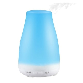 2 Speed Mist 7 Color LED Aroma Silent Ultrasonic Cool Mist Humidifier Essential Oil Diffuser, White