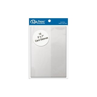 Card Sleeves 5x7 10pc Clear