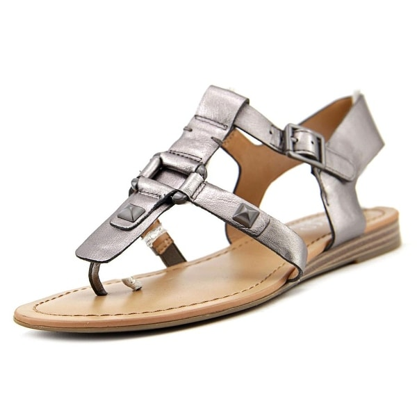 1112ac5630e3 Shop Franco Sarto Geyser Women Open Toe Synthetic Silver Thong ...