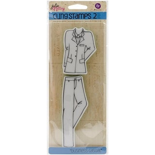 Julie Nutting Mixed Media Cling Rubber Stamps-Business Casua - business casual accessories