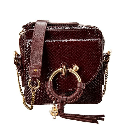 See By Chloe Joan Snake-Embossed Patent Camera Bag