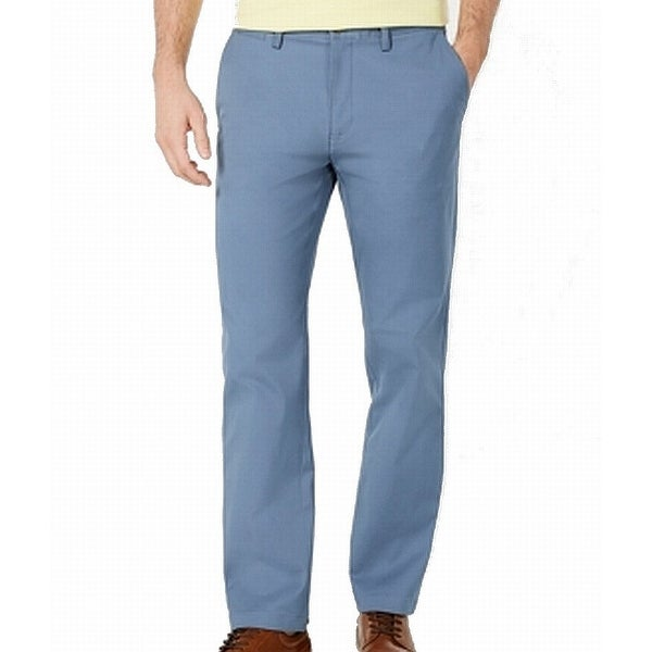Club Room Mens Pants Dusk Blue Size 38x30 Flat Front Chino Stretch. Opens flyout.