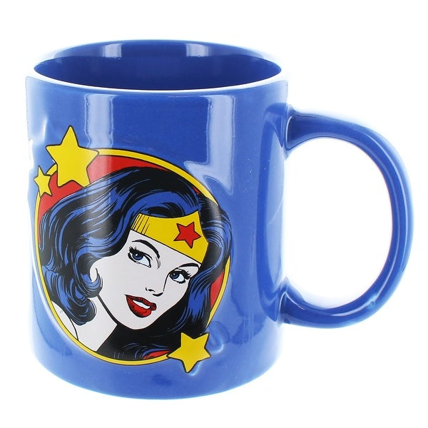 DC Wonder Woman Embossed Logo 20 oz Ceramic Mug - Multi