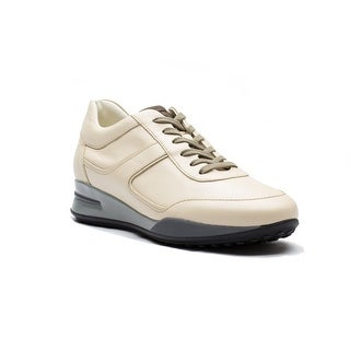 Tod's Men's Leather Allacciato Sport T Project Low Top Sneakers Shoes White