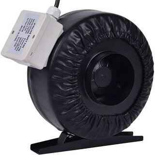 Costway 4'' Inline Duct Fan Hydroponics Exhaust Cooling Fan Blower Strong CFM - Black