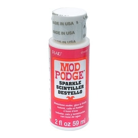 Mod Podge, Decoupage Sealer Glue, Sparkle Finish, 2 Ounce Bottle
