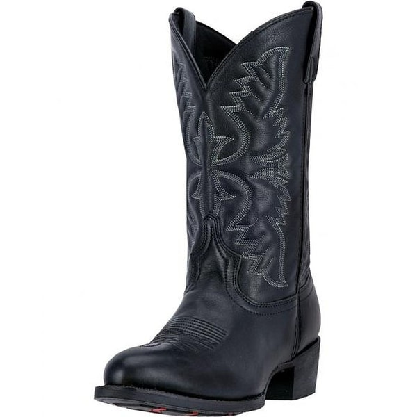 Laredo Western Boots Mens 12 Inch Shaft Leather Round Toe Black