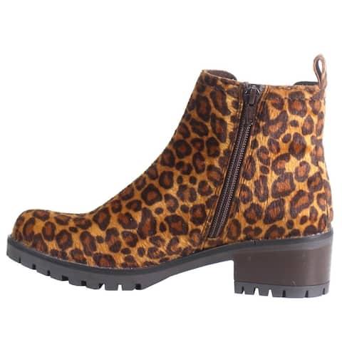 "Diba True Hurry Inn Zip Up Womens Boots Mid Heel 2-3"" - Brown"