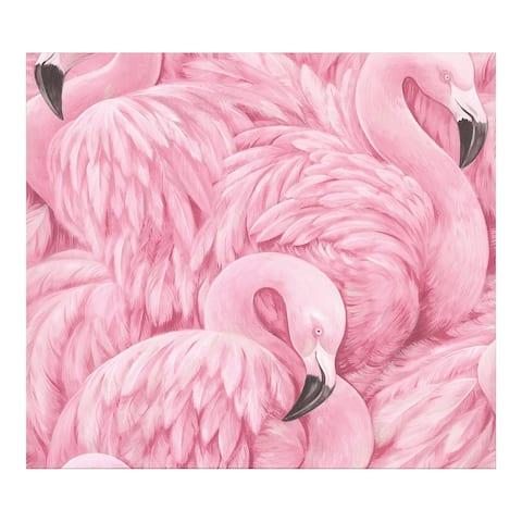 Horace Pink Flamingos Wallpaper - 20 x 396 x 0.025
