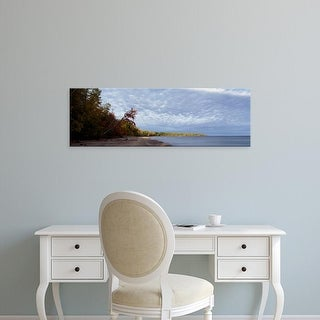 Easy Art Prints Panoramic Images's 'Trees at the lakeside, Lake Superior, Upper Peninsula, Michigan, USA' Canvas Art
