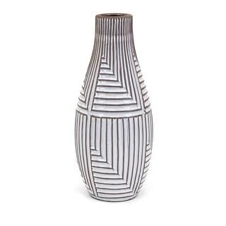 IMAX Home 13678  Ella Large Terracotta Vase - White
