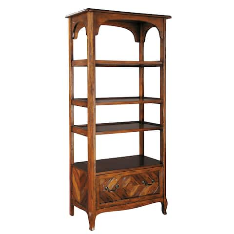 Hekman Furniture Brown Wood 4-shelf Bookcase with Drawer