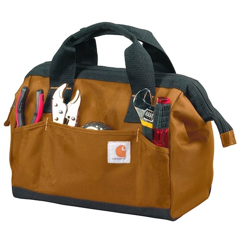 Carhartt 16010102 Trade Tool Tote, Light Brown, Heavy Duty Poly Fabric