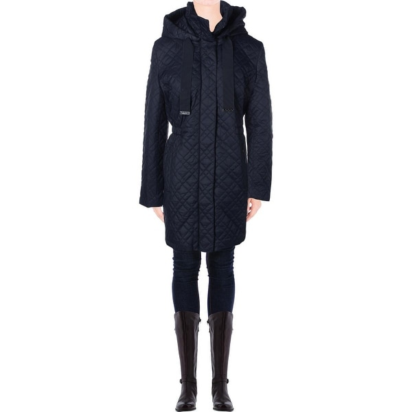 Elie Tahari Womens Mary Kate Puffer Coat Quilted Zip Front