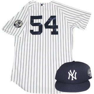 Joe Espada Uniform  NY Yankees 2015 Game Used 54 Jersey and Hat w Pettitte Retirement Patch