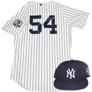 Joe Espada Uniform NY Yankees 2015 Game Used 54 Jersey and Hat w Pettitte Retirement Patch