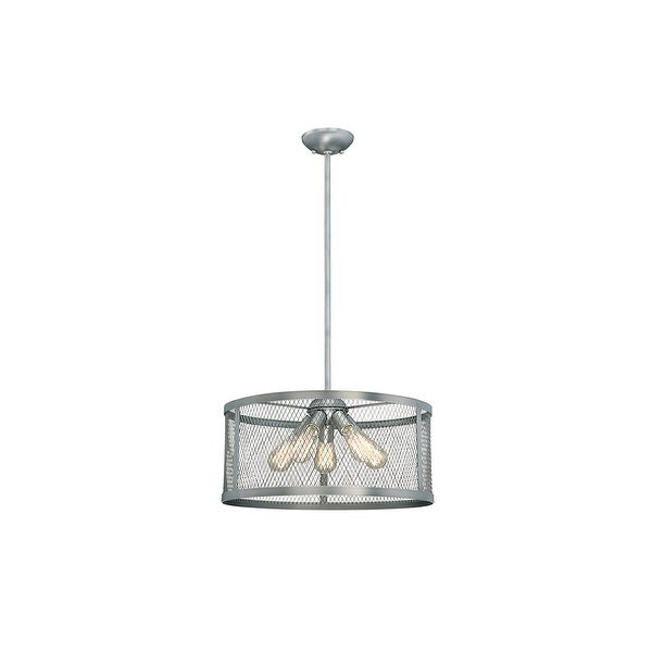 "Millennium Lighting 3275 Akron 5-Light 20"" Wide Pendant with Mesh Style Metal Drum Shade"