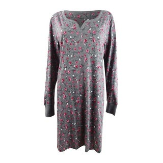 Link to Charter Club Women's Printed Sleepshirt Nightgown (S, Coquette Fleur) - Coquette Fleur - S Similar Items in Intimates