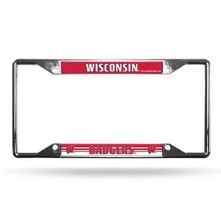 Wisconsin Badgers EZ View Chrome License Plate Frame