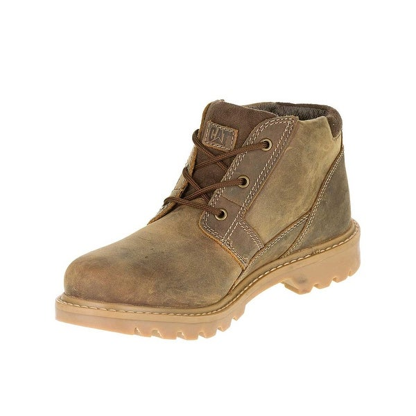 Caterpillar Mens Graft Boots in Dark Beige