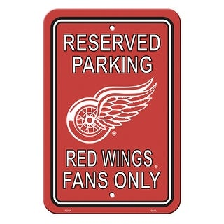 Fremont Die Inc Detroit Red Wings Plastic Parking Sign Parking Sign