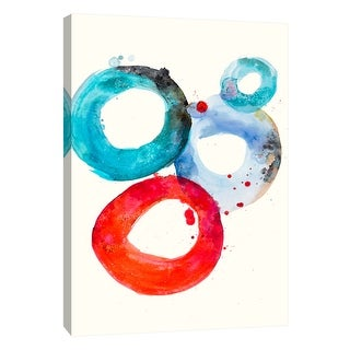 "PTM Images 9-105530  PTM Canvas Collection 10"" x 8"" - ""Watercolor Oval 3"" Giclee Abstract Art Print on Canvas"