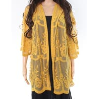 Honey Belle Floral Lace Mesh Medium Sheer Cardigan Jacket