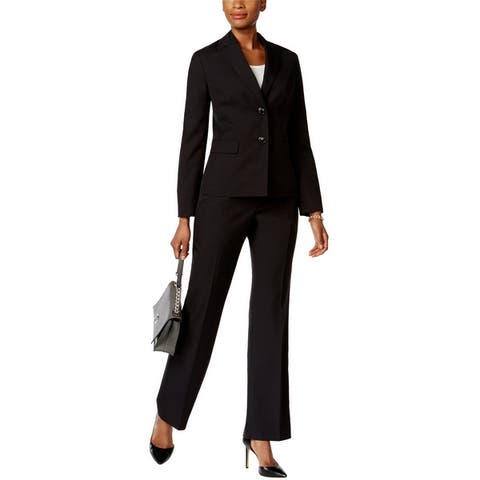 Le Suit Womens Tonal Pinstripe Pant Suit