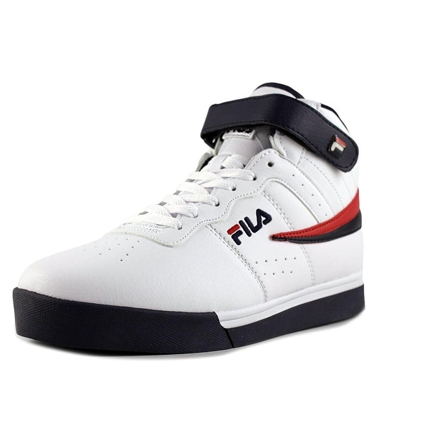 Fila Vulc 13 Mid Plus Men Round Toe Synthetic White Sneakers