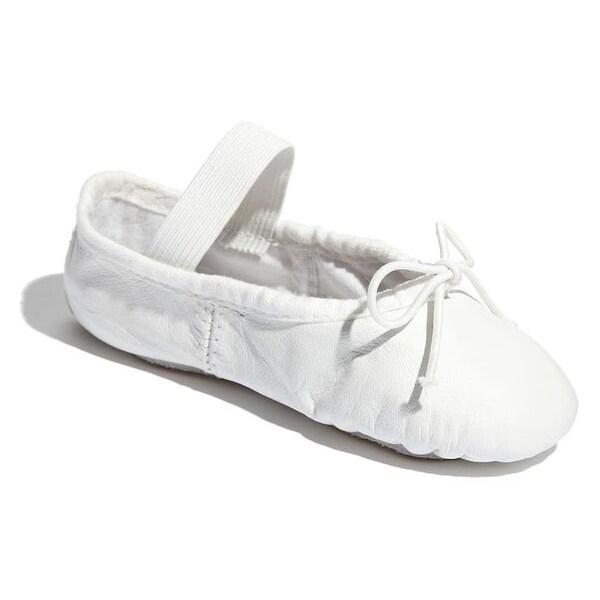 Toddler//Little Kid Bloch Dance Dansoft Ballet Slipper ,White,1 D US Little Kid