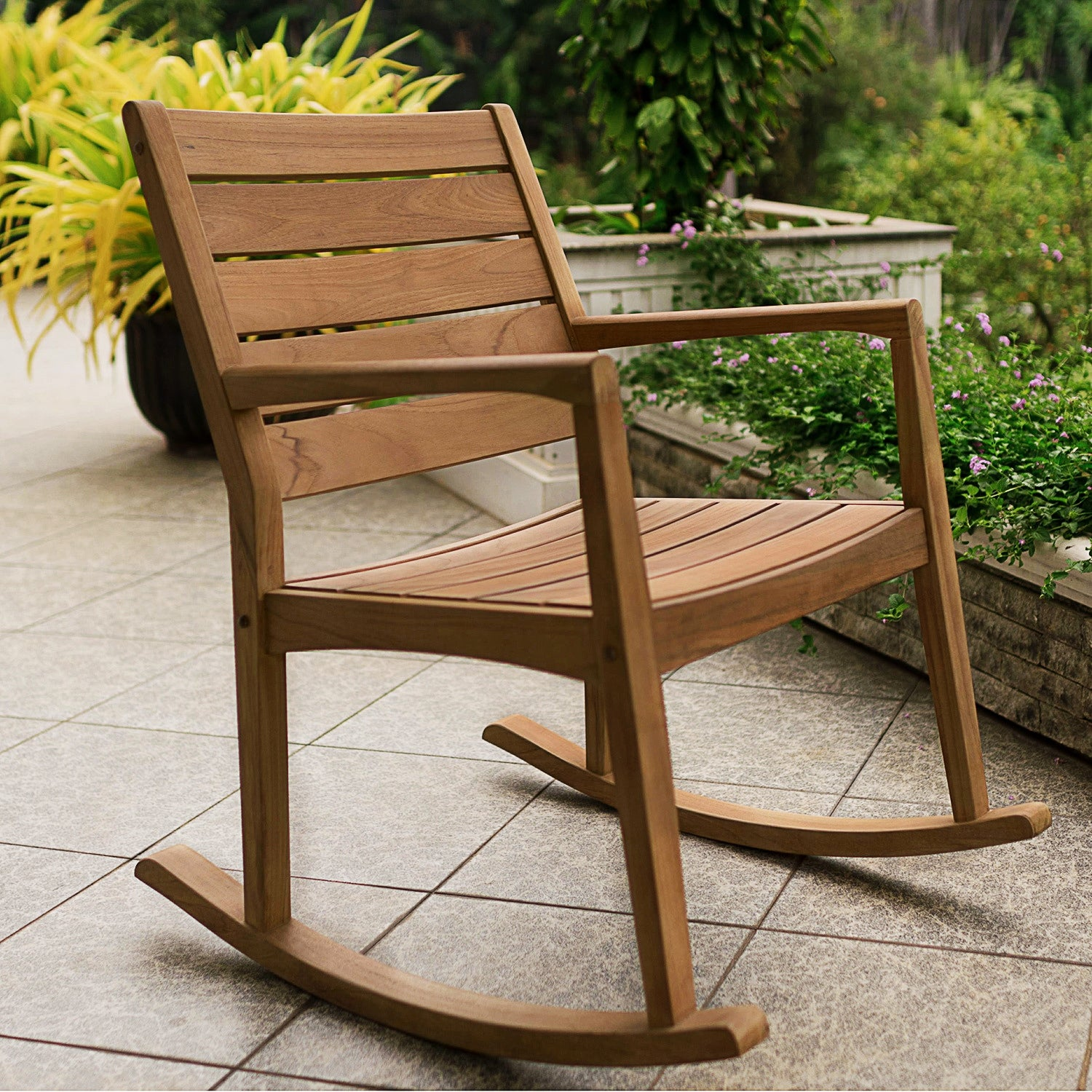 Shop Cambridge Casual Andrea Teak Rocking Chair On Sale Overstock 11190321