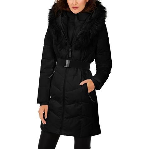 Calvin Klein Womens Puffer Coat Winter Quilted - Black